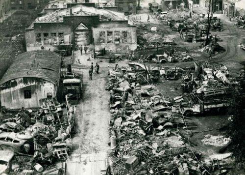 Die Barmbeker Straße 26 nach  den Hamburger Bombennächten