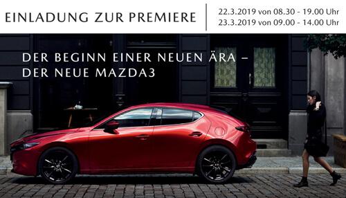 Premiere des neuen MAZDA 3